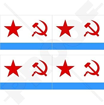 Sticker decal vinyl decals national flag car ensign bumper russia russian