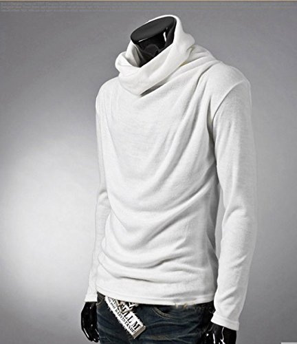 Easy men thermal cotton turtle polo neck skivvy turtleneck sweater stretch shirt