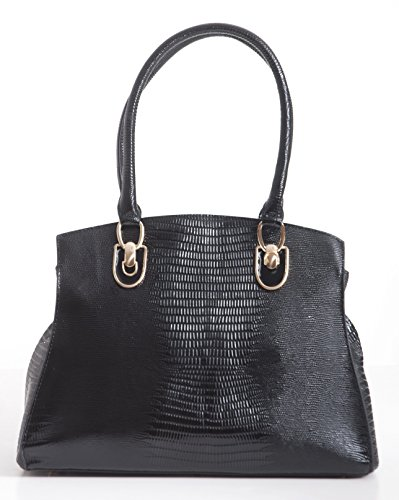 Bravo-Handbag-Crocodile-Print-Black-Large