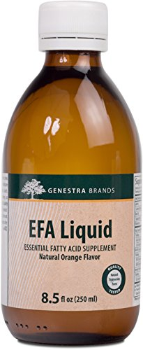 Oil Evening Primrose Fish (Genestra Brands - EFA Liquid - Unique Blend of Fish, Flax, and Evening Primrose Seed Oils - 8.5 fl oz (250 ml))