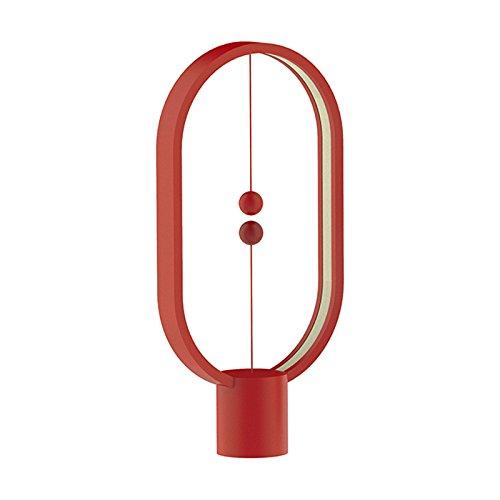 Magnetic Levitating balance induction LED light desk lamp Vanity lights Ideal as Night Lights - Home Gift Idea (Red)