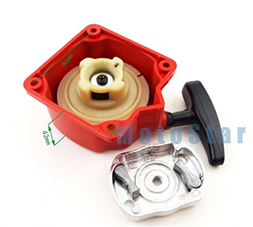Oversize Pull Oil (Gas Scooter Recoil Pull Start Starter With Claw Pawl For Motovox MVS10 43cc 49cc 2 Stroke Engine Red)