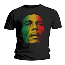 Bob Marley and the Wailers Face Reggae Rock Official Tee T-Shirt Mens Unisex