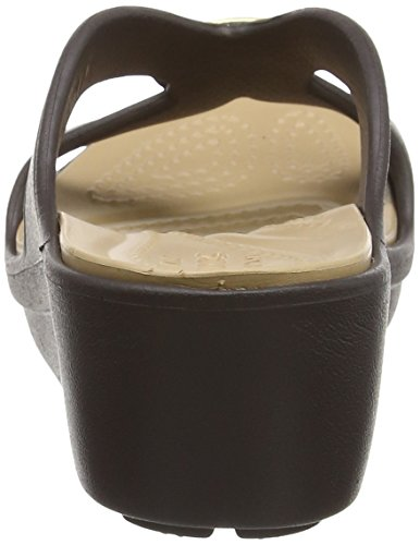 Snrhembllshdwdg Ouvert Bout Or Femme Gold Crocs Sandales Bronze 4FU4d