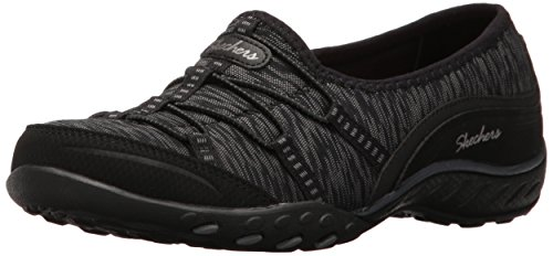 Skechers Breathe-Easy-Golden, Zapatillas para Mujer Negro