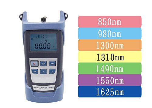ELEOPTION Optical Power Meter Handheld, Visual Fault Locator Fiber Optic Cable Testerwith Light Source SC FC Connector Optic Test Equipment for CCTV CATV Communication Engineering by ELEOPTION