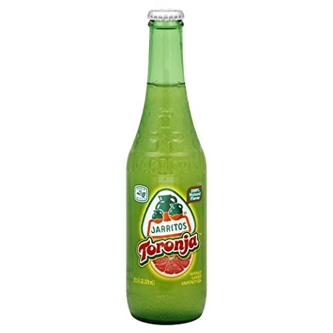 Jarritos Mexican Soda, 12.5 Oz Glass Bottle (Pack of 4) (Grapefruit (Toronja)) - 12.5 Ounce Beverage Glass