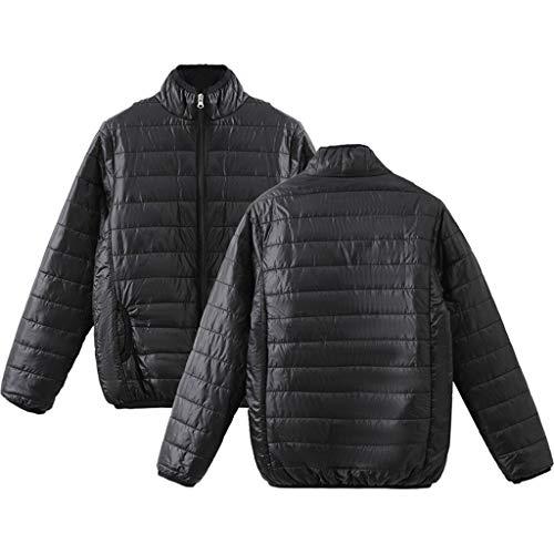 E-Scenery Down Jacket Women's Winter Warm Long Sleeve Stand-Collar Solid Color Zipper Coat (24 Maroon Replica Football)