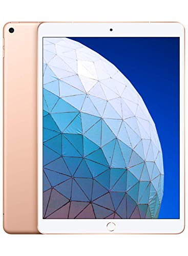 - Apple iPad Air (10.5-inch, Wi-Fi + Cellular, 256GB) - Gold (Latest Model)