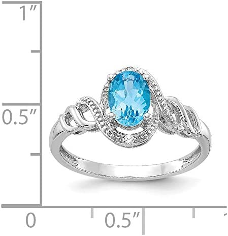 Simulated Opal and Diamond Ring .02cttw Mia Diamonds 925 Sterling Silver Solid