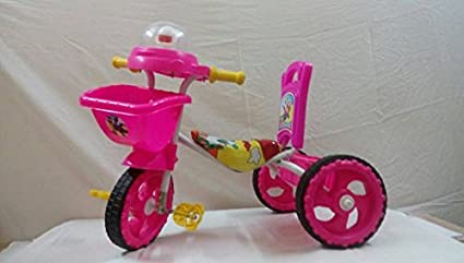 b496e20f075 Image Unavailable. Image not available for. Colour: Chinar Sweety Three  wheeler kids bicycle with musical hood Suitable ...