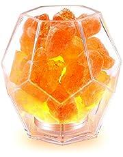 Lámpara de Sal InLife Luz Nocturna Himalaya Natural Crystal Tallada a Mano con Ion de oxigeno