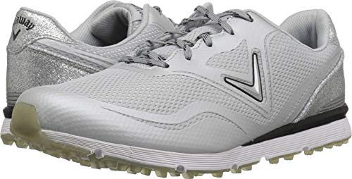 Callaway Women's Solaire Golf Shoe, Light Grey, 8 B B US