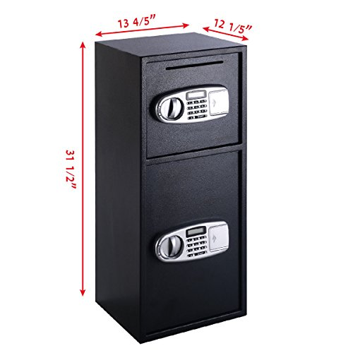 Giantex Double Door Digital Safe Depository Drop Box Safes Cash Office Security Lock by Giantex (Image #2)