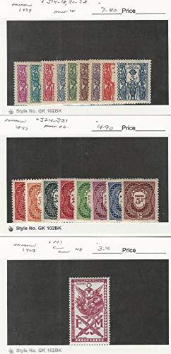 Cameroon, Postage Stamp, J14-8, J20-3, J24-31, M1 Mint, 1939-63, JFZ