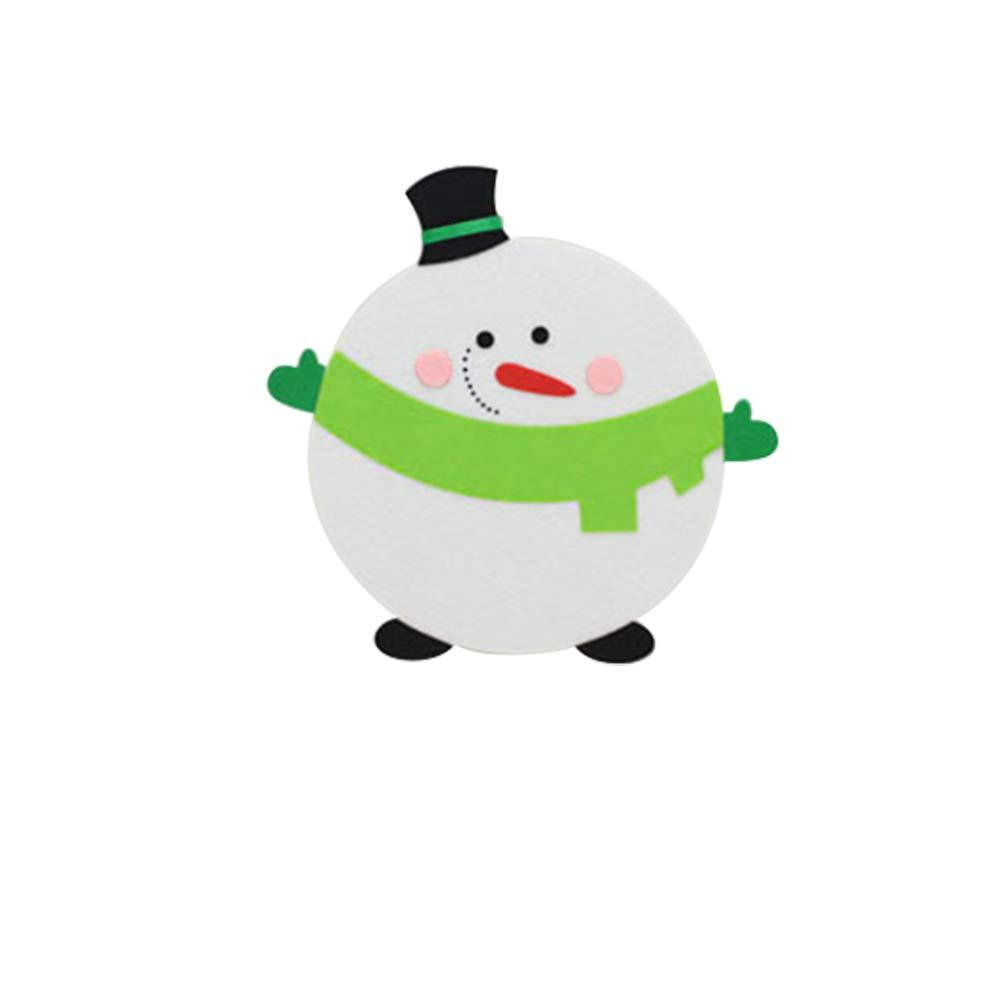 Slri SIridescentZB Mouse Pad Mat, Non Tessuto Natale Babbo Renna Pupazzo di Neve Pinguino Regalo Babbo Natale