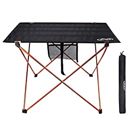 G4Free Ultralight Portable Folding Camping Table Compact Roll Up Tables with Carrying Bag for Outdoor Camping Hiking Picnic
