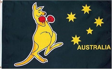 The Boxing Kangaroo FLAG AUSTRALIA 2004 BOXING KANGAROO POSTCARD