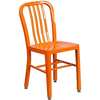 Gentil Flash Furniture Orange Metal Indoor Outdoor Chair