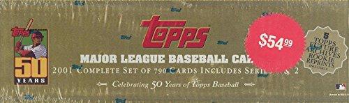 2001 Topps Baseball Cards Complete Set (795 cards) (Cards Baseball 2001 Topps)