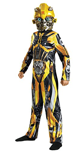 Disguise Bumblebee Movie Classic Costume, Yellow, Medium (7-8)