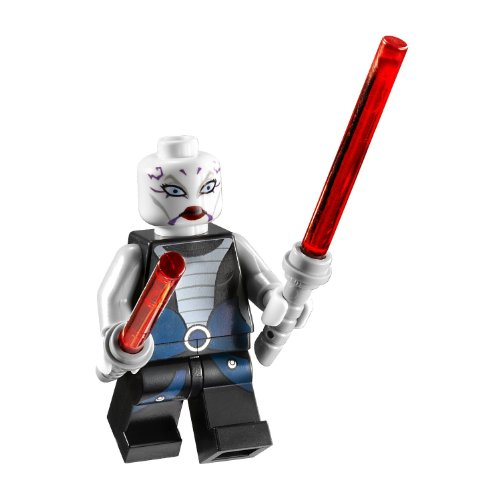 Asajj Ventress with 2 Red Lightsabers with Special Handle Included~ Lego Star War's Minifigure New 2011 Asajj Ventress Lightsaber