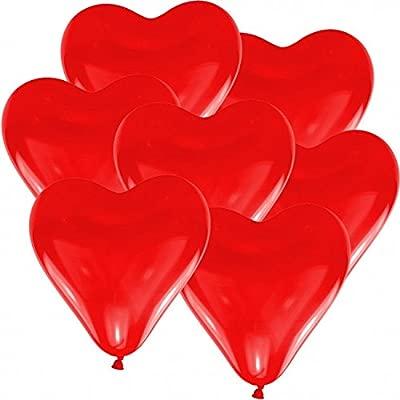100 globos de corazón hinchables de helio, 30 cm de diámetro ...