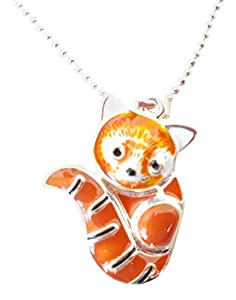 Cute Red Panda Necklace, 15 Inch
