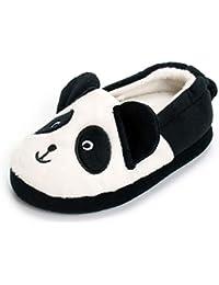 Toddler Boys Panda Slipper Cartoon Cute Animals Winter Cotton Warm Shoes