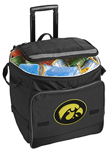 [University of Iowa Cooler Iowa Hawkeyes Rolling Cooler Bags] (Iowa Hawkeyes Tailgate Cooler)