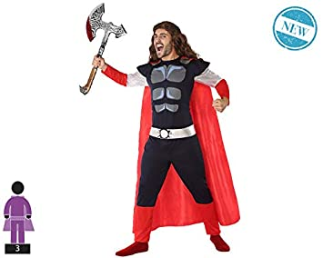 Atosa-61456 Atosa-61456-Disfraz Heroe Comic-Adulto Hombre, Color ...