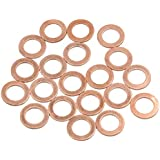 X AUTOHAUX 11mm Inner Dia Copper Washers Flat Car Sealing Gaskets Rings 20pcs