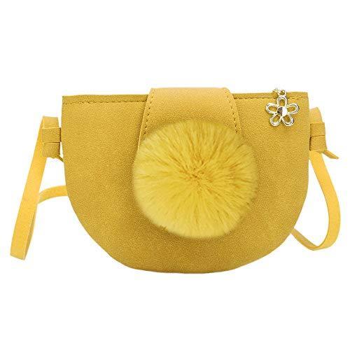 Refaxi Semi-Circle Matte PU Leather Mini Crossbody Single Shoulder Bag Cellphone Pouch (Yellow)