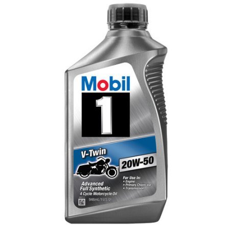 PACK OF 4 - Mobil 1 20W-50 Full Synthetic Motorcycle Oil, 1
