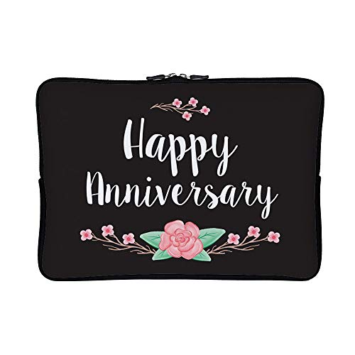 DKISEE Abstract Floral Anniversary Card Neoprene Laptop Slee