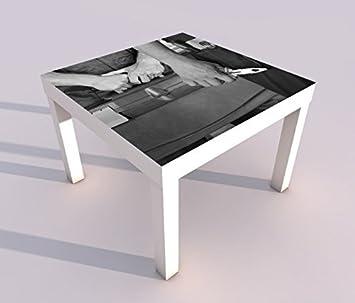 diseño - Mesa Con UV impresión 55x55cm Negro Blanco Auto ...