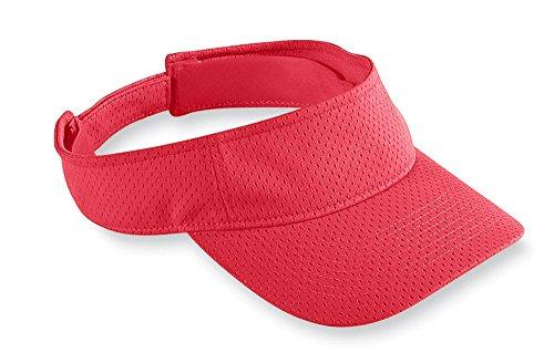 Polyester Mesh Visor (Augusta Sportswear KIDS' ATHLETIC MESH VISOR OS Red)