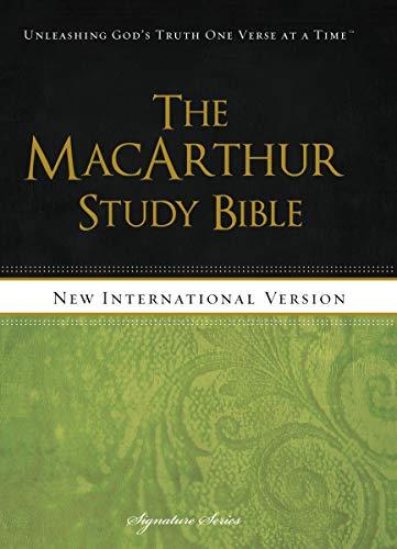 NIV, The MacArthur Study Bible, Hardcover: Holy Bible, New International Version (Signature)