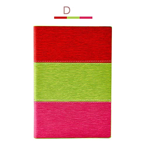 """Zuozee A5 Hardcover Notebook 120 Sheets Creative Multicolor Faux Leather Writing Notebook Journal Diary 6""""x8"""" D"""
