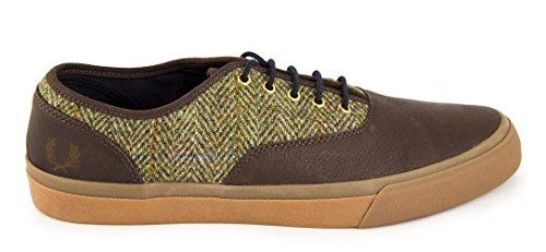 Zapato Clarence Marron Espiga de Fred Perry Shoes