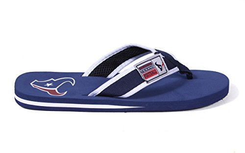 Forever Collectibles Officially Licensed NFL Contour Flip Flops - Happy Feet and Comfy Feet Houston Texans 6RGJRKeOA