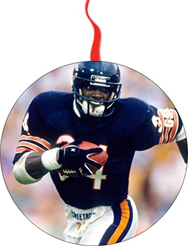 Walter Payton Chicago Bears Christmas Tree Holiday Ornament Printed Double- 2 Sided Decoration Great Unisex