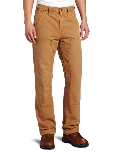 Carhartt Men's Weathered Duck Double Front Dungaree Relaxed Fit,Carhartt Brown,36 x 32