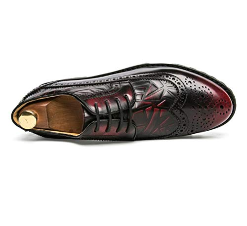 Bout Sculptée Shiney Nouvelle Brock Men Red Britannique À En De Cuir Éponge Pointu Chaussures New r77dEw