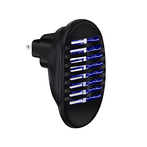 Ankuka Plug in Bug Fly Zapper, Indoor Mosquito Killer Electric Insect Repeller for Home, Indoor, Outdoor, Garden Camping (Black 1)