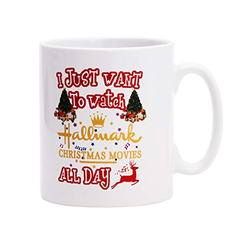Coffee Mug This Is My Hallmark Christmas Movie Watching Mug Tea Cup Ceramic Coffee Mug for Christmas Gift Brithday Gift or Daily -
