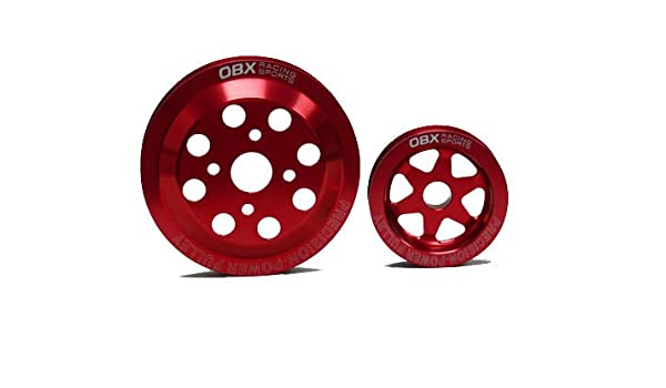 Amazon.com: OBX Red Overdrive Power Pulley Kit 89-94 Mitsubishi Eclipse GS -T/GSX and Eagle Talon TSi/AWD and Plymouth Laser Turbo/AWD 4G63T: Automotive