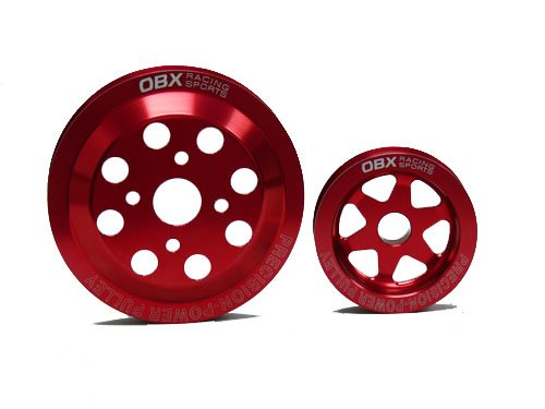 OBX Red Overdrive Power Pulley Kit 89-94 Mitsubishi Eclipse GS-T/GSX and Eagle Talon TSi/AWD and Plymouth Laser Turbo/AWD 4G63T