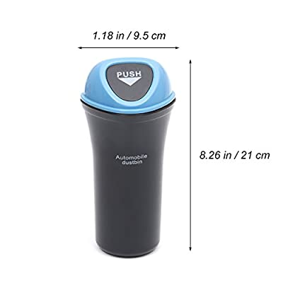 VORCOOL Car Trash Can Cup Holder Portable Car Vehicle Garbage Trash Can Automotive Garbage Can with Hook, Sky Blue: Health & Personal Care
