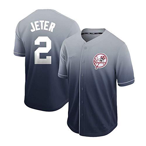 DukeLy Mens_Derek_Jeter_Fade_Cool_Base_Player_Jersey